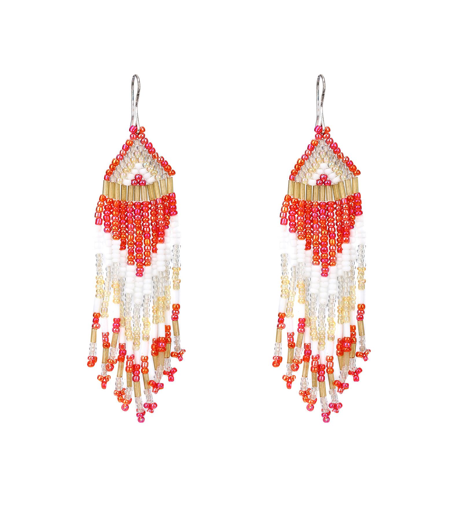 Boucles d'oreilles Perles Rouge