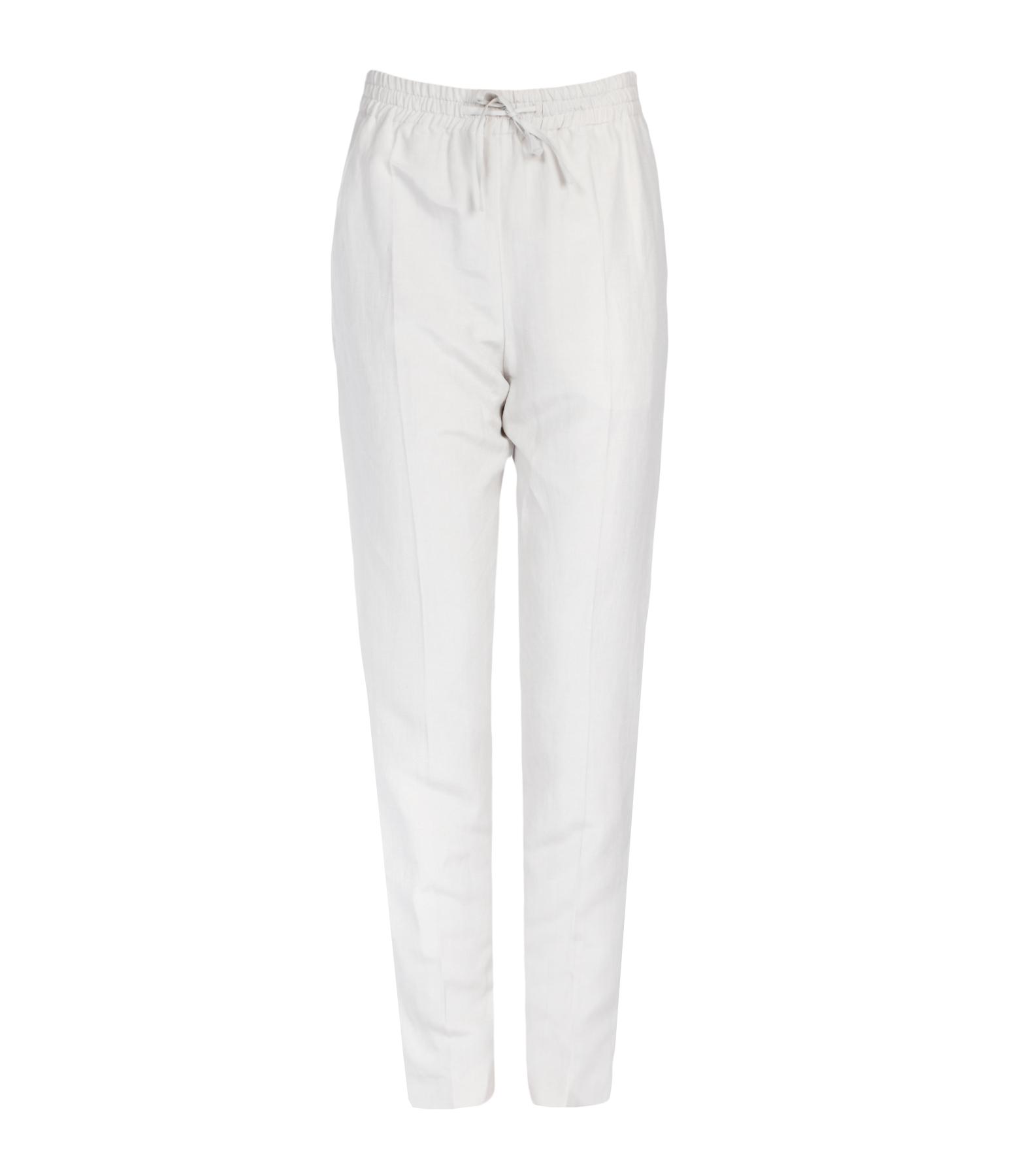 Pantalon Louna Vintage Lin Soie Coconut