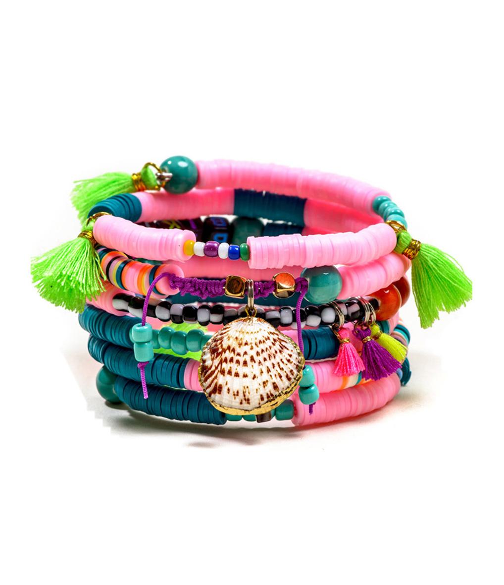 Bracelet Multi Magic Rose/ vert