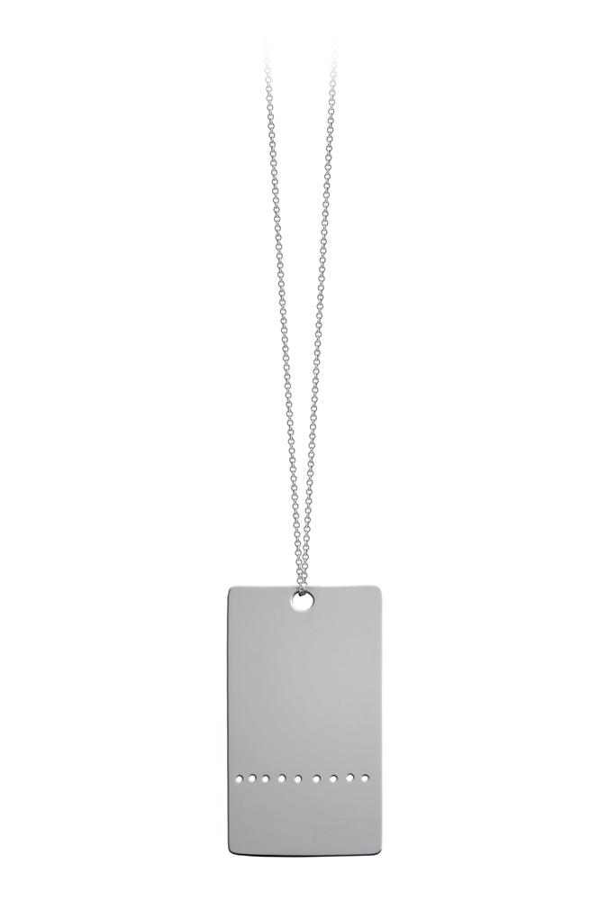 Collier Army Plate sur chaîne 50cm