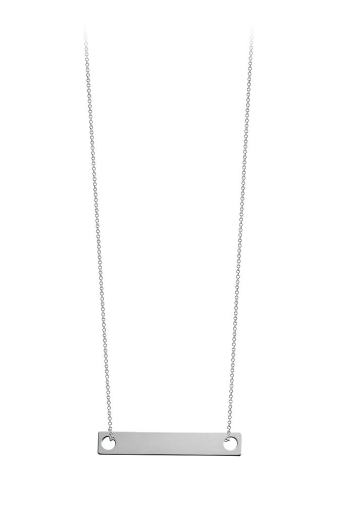 Collier Mini Baguette sur chaîne 50cm