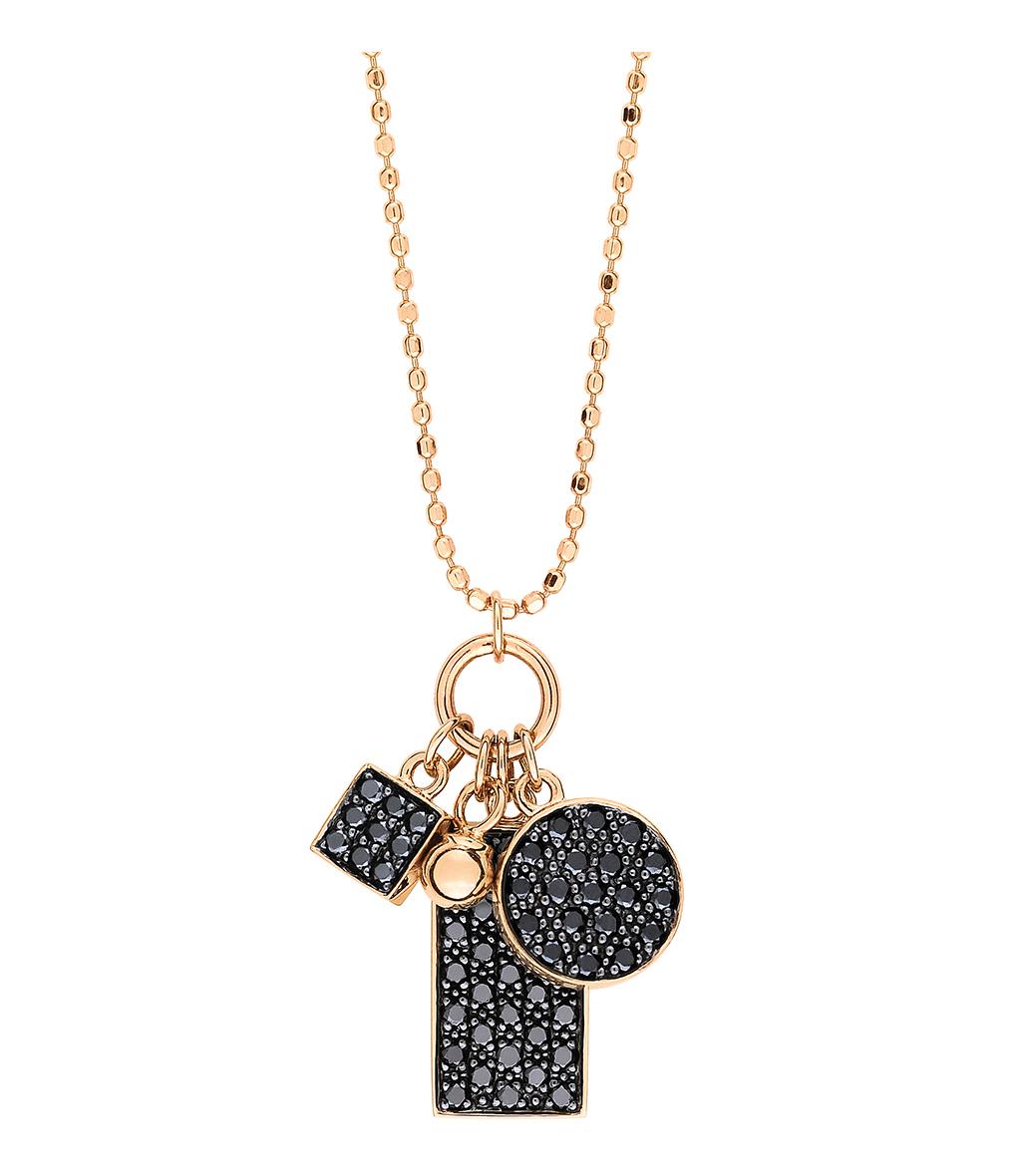 Collier Mini Ever Charms Diamants Noir