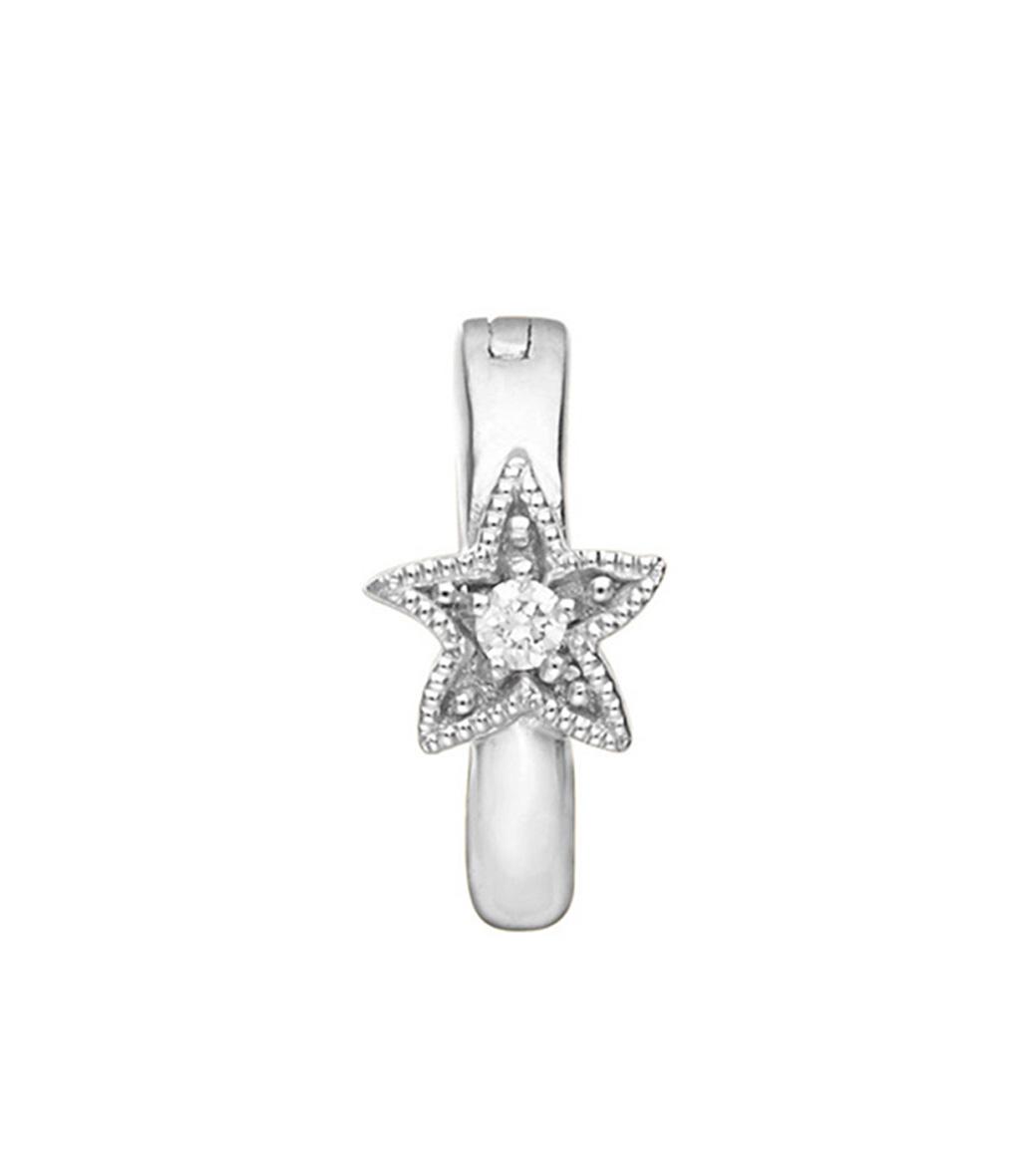 Mini Créole Petite Etoile Diamants (vendue à l'unité)