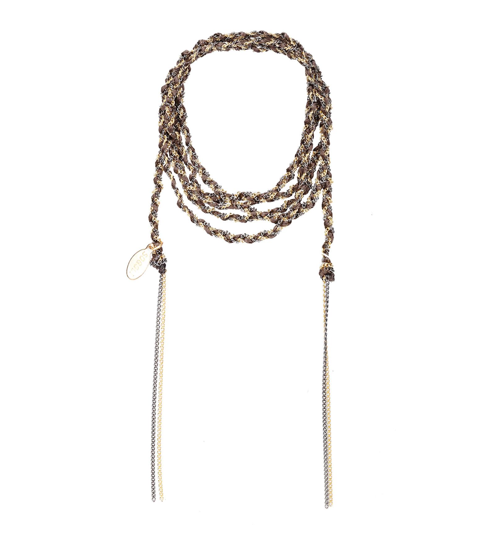 Bracelet Headband Tresse Chocolat