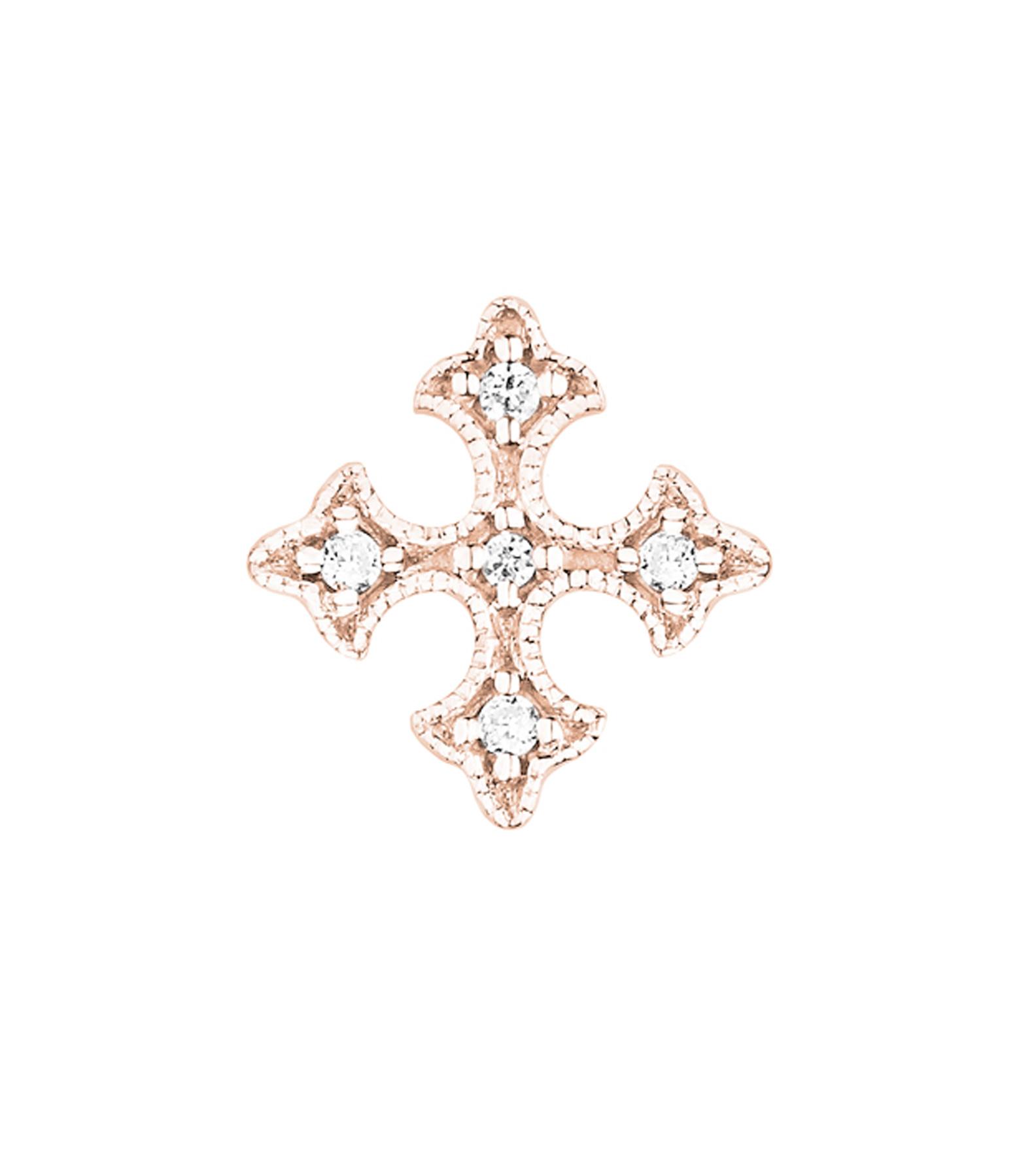 Boucle d'oreille Passion Bouton Diamants (vendue à l'unité)