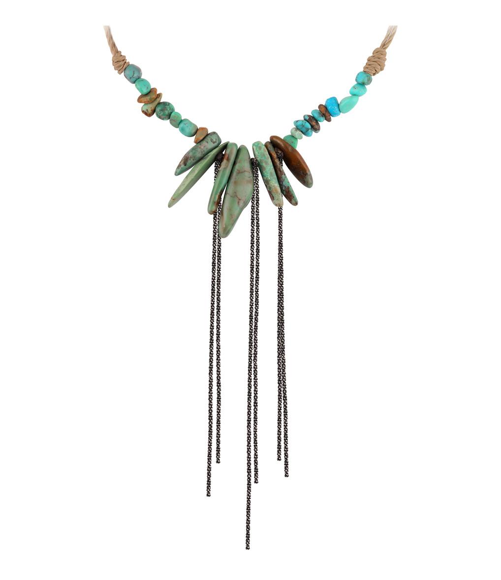 Sautoir Totem Turquoise