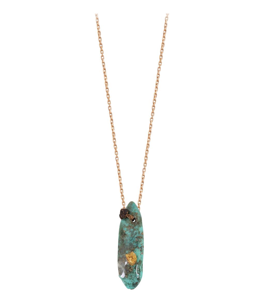 Collier Chaîne Vermeil Totem Turquoise