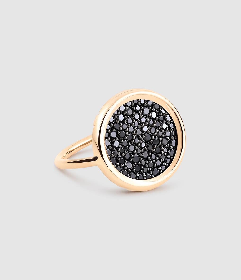 Bague Mini Ever Disc Diamants Noir