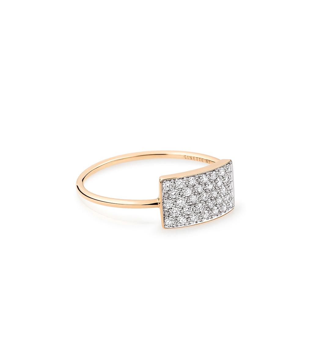 Bague Mini Ever Rectangle Diamants