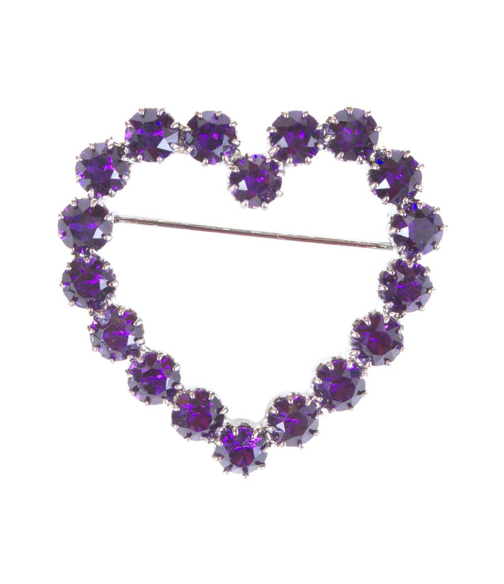 Broche Petit Cur Lola Violet
