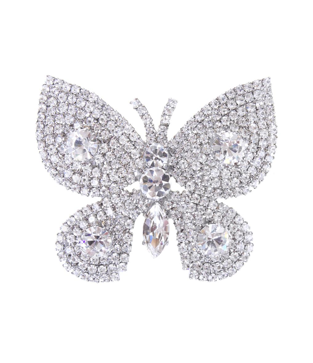 Broche Grand Papillon Cristal