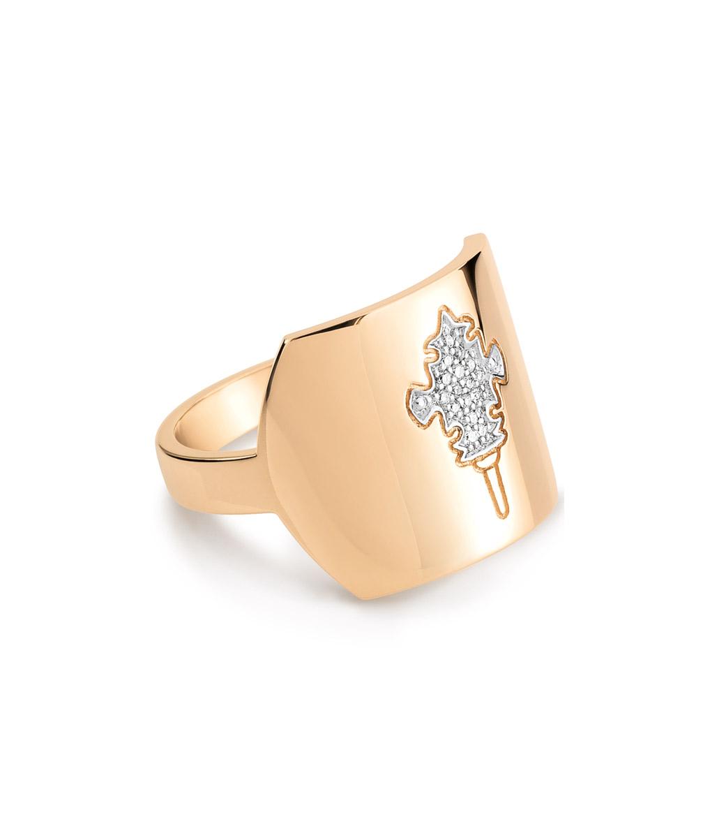 Bague Tanger Large Or et Diamants