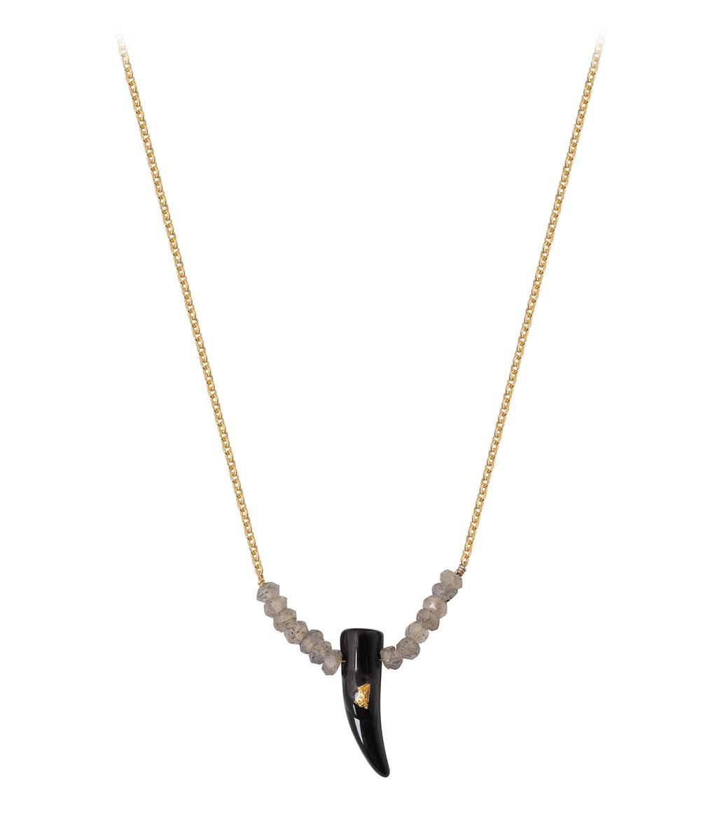 Collier Corne Color Onyx Labradorite