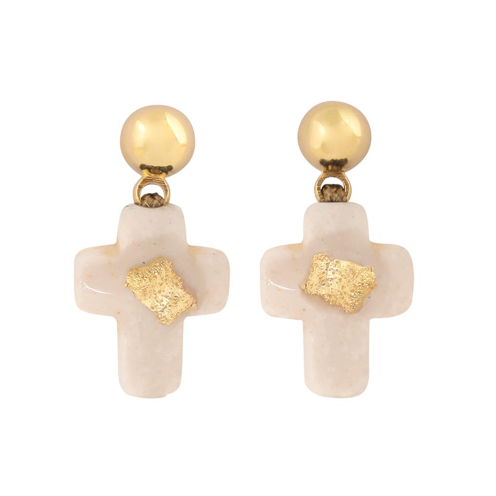 Boucles d'oreilles Croix Riverstone