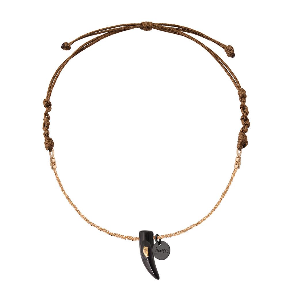 Bracelet Chaîne/Cordon Corne Onyx