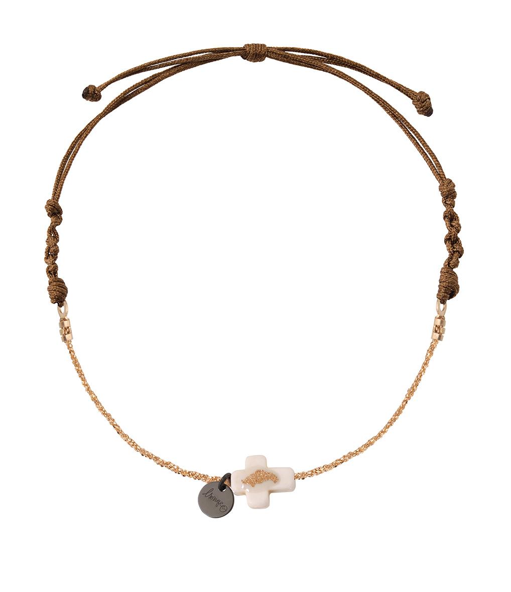 Bracelet Chaîne/Cordon Croix Riverstone