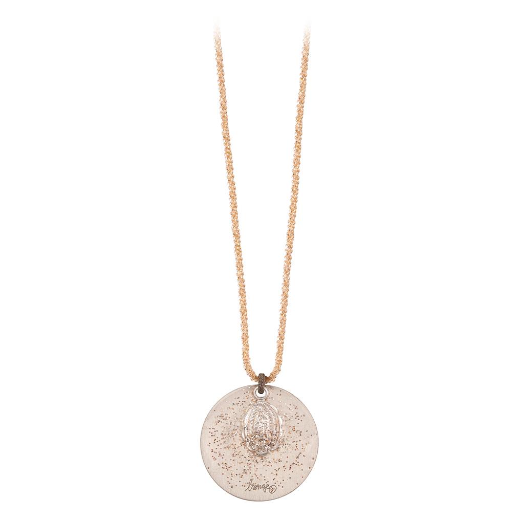 Collier Chaîne Plaqué Or Médaille XL