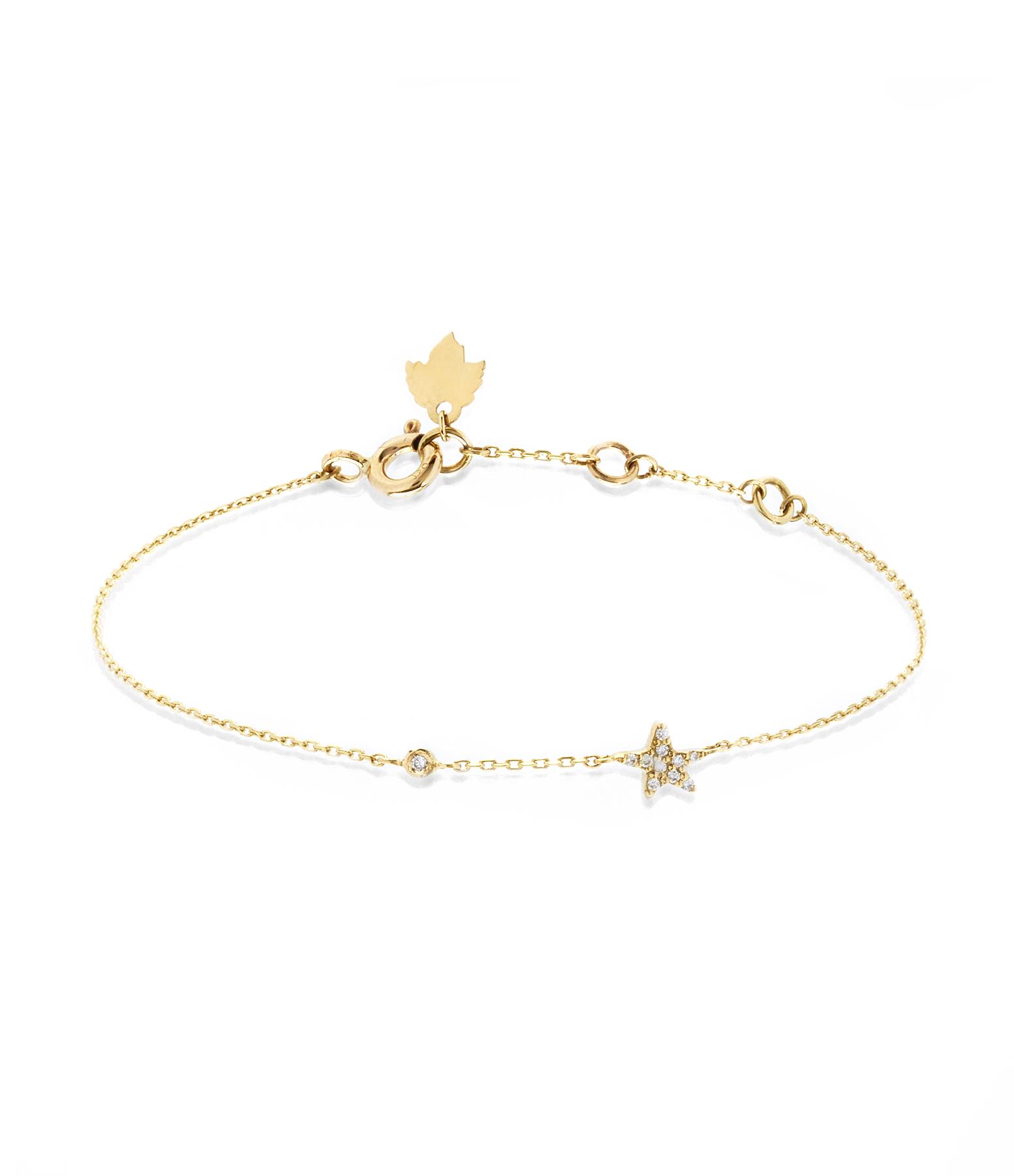 Bracelet Eternel Etoile Diamants 18K
