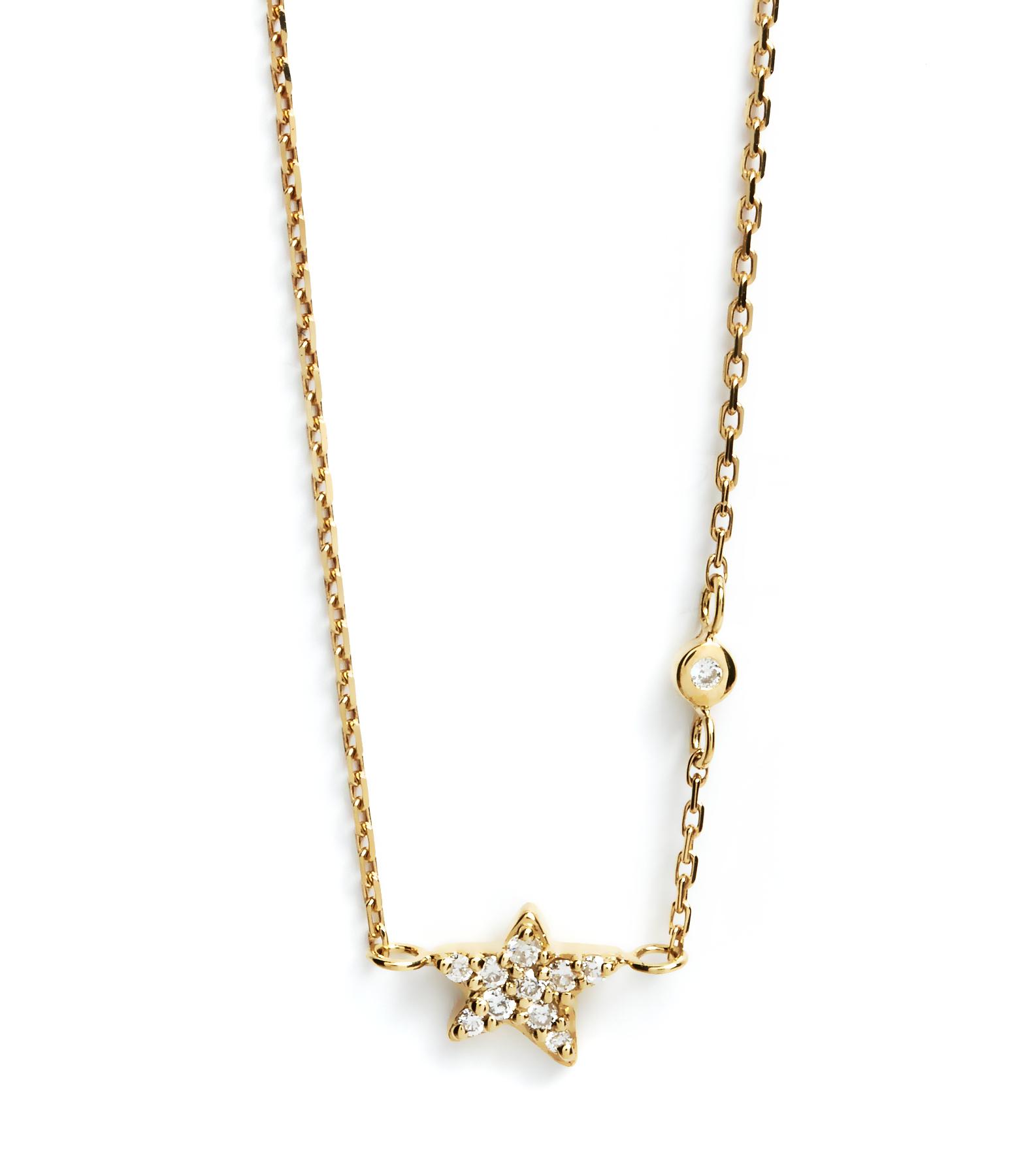 Collier Eternel Etoile Diamants 18K
