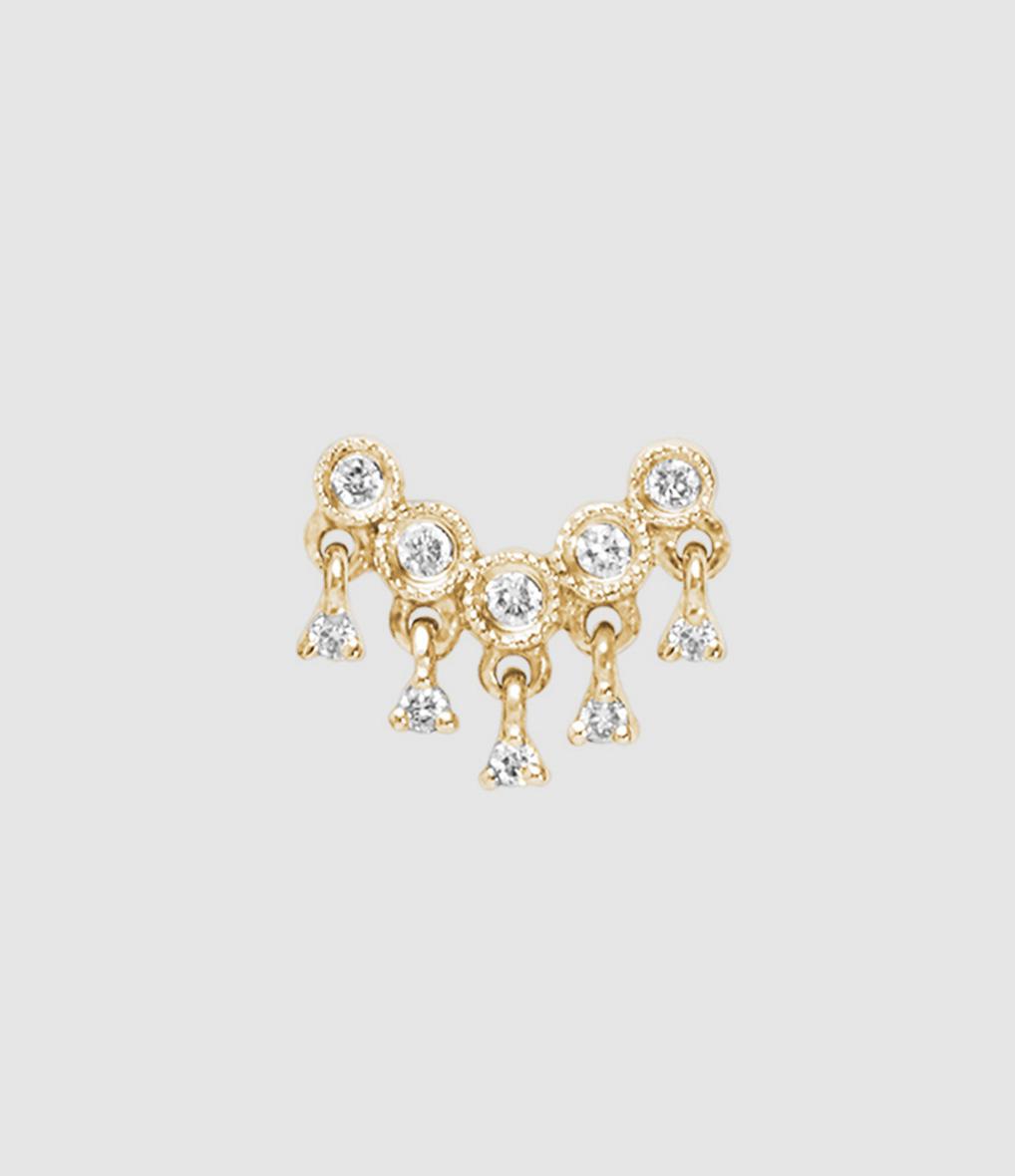 Boucle d'oreille Bouton Talitha Diamants (vendue à l'unité)