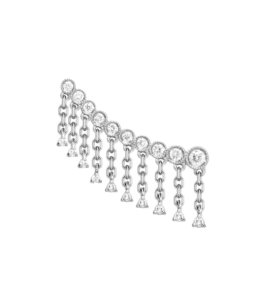 Boucle d'oreille Talitha Montante Diamants (vendue à l'unité)