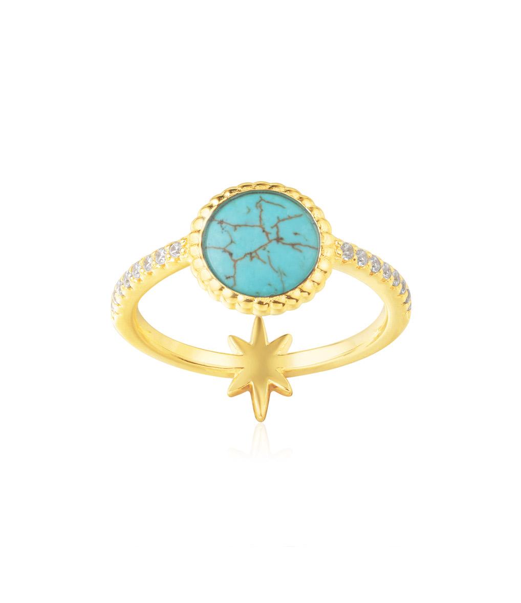 Bague Pastille Turquoise Valentine